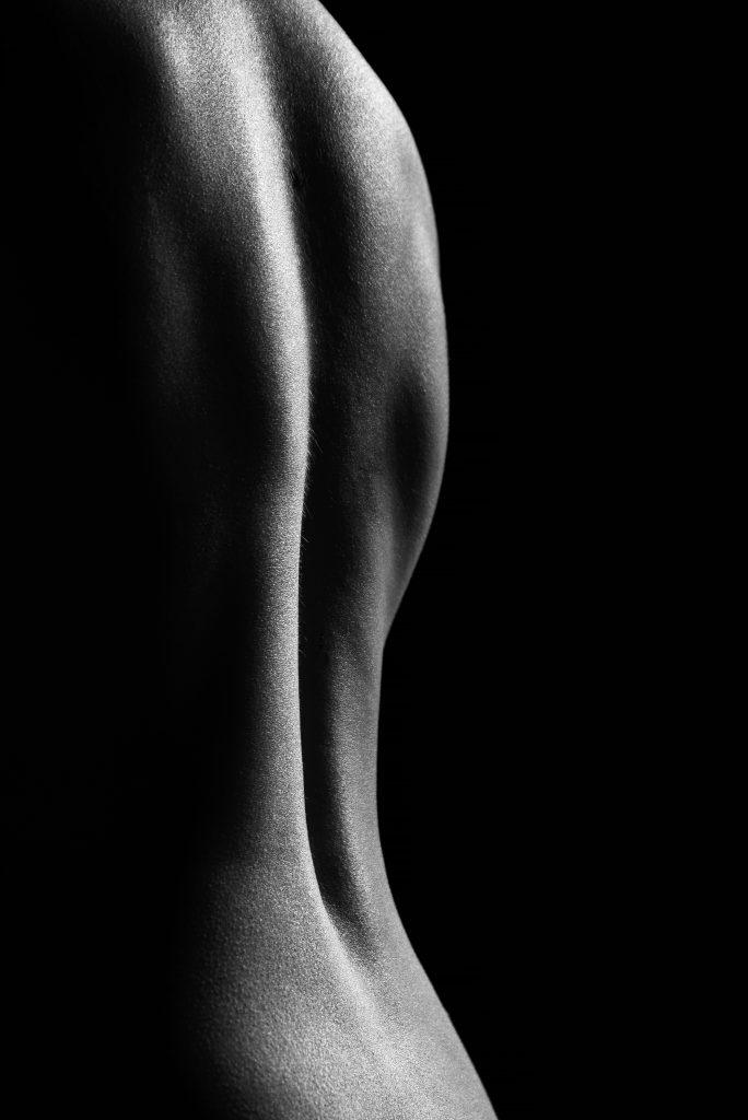 Rücken im Streiflicht